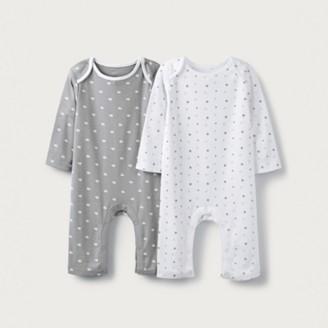 The White Company Star & Elephant-Print Sleepsuits - Set of 2, White, 12-18mths