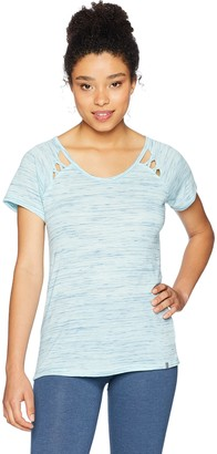 Andrew Marc Women's Short Sleeve Cold Clavicle TEE