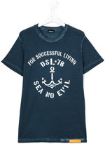 Diesel anchor print T-shirt - kids - Cotton - 16 yrs