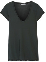 James Perse Cotton-jersey T-shirt - Forest green