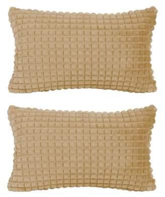 "Piccocasa PiccoCasa 2Pcs Decorative Throw Pillow Covers Sofa Cushion Cover, 12""x 20"""