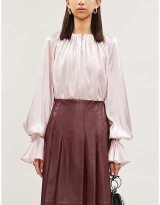 Roksanda Ilincic Pia relaxed-fit flared-cuffs silk blouse
