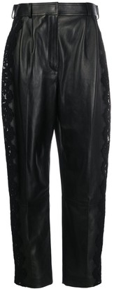 Alexander McQueen Lace Trim High-Waisted Trousers