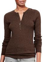 Lauren Ralph Lauren Cotton Half-Zip Henley Shirt