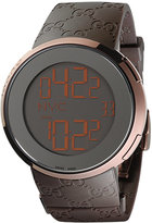 Gucci Watch, Unisex I Collection Brown Rubber Strap 45mm YA114209