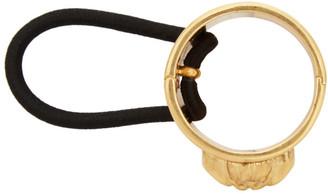 Versace Gold Medusa Hair Tie