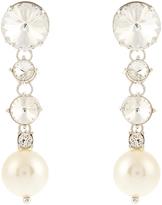 Miu Miu Faux-pearl and crystal-embellished earrings