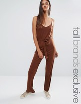 One Day Tall Wrap Front Cami Strap Jumpsuit