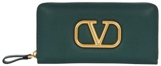 Valentino Leather VLOGO Continental Wallet