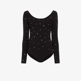 Miu Miu crystal-embellished bodysuit