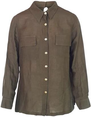Haris Cotton Linen Blend Shirt - Olive