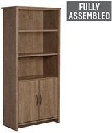 Collection Truro 2 Door Bookcase - Walnut Effect