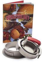 Charcoal Companion Sur La Table Cast Aluminum 3-in-1 Adjustable Burger Press with Recipe Book