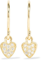 Jennifer Meyer Mini Heart 18-karat Gold Diamond Earrings - one size
