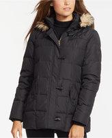 Lauren Ralph Lauren Petite Faux-Fur-Trim Quilted Toggle Jacket