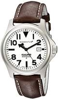 Momentum Atlas Men's Quartz Watch with White Dial Analogue Display and Brown Leather Strap 1M-SP00W2C