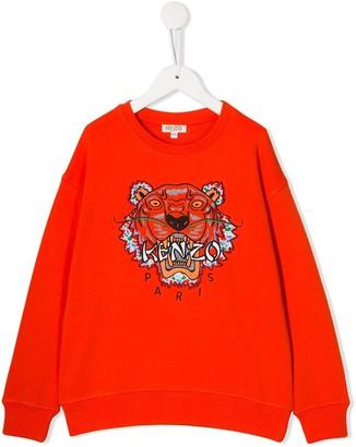 Kenzo Kids Chinese New Year Capsule Dragon Tiger embroidered sweatshirt