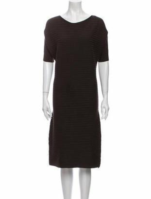The Row Scoop Neck Midi Length Dress Brown
