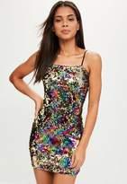 Missguided Black Multi-colour Bodycon Dress, Multi