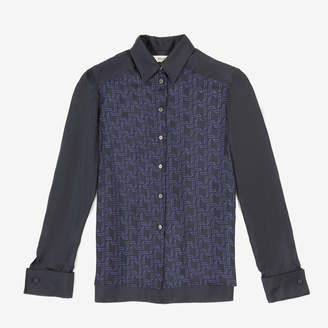 Bally Ball Wings Printed Silk Shirt