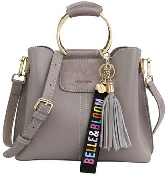 Belle & Bloom TWI200GRY Twilight Grey Zip Top Crossbody Bag