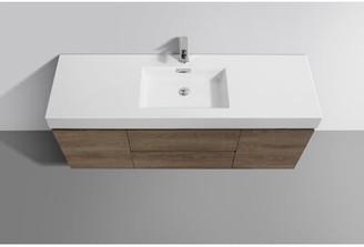 """Wade Logan Malakai 60"""" Wall-Mounted Single Bathroom Vanity Set"""
