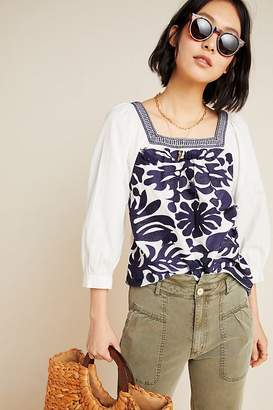 Maeve Liyah Embroidered Blouse