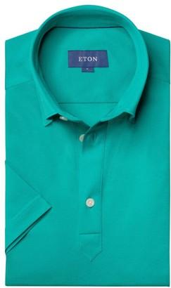 Eton Contemporary-Fit Short-Sleeve Pique Polo