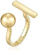 Rebecca Minkoff Bead/Bar Gold U Ring, Size 7