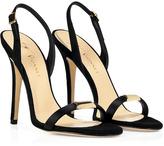 Vionnet Black Suede Slingback Sandals