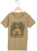 Bonpoint Boys' Guitar Print Short Sleeve Shirt