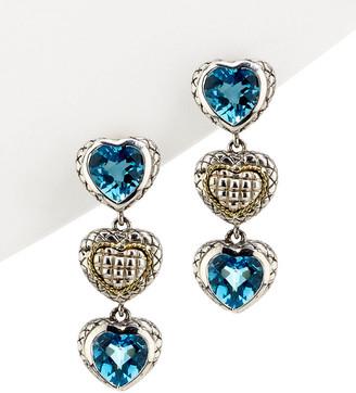 Candela Andrea Alhambra 18K & Silver Topaz Drop Earrings