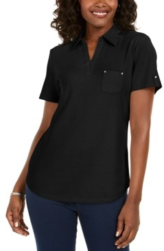Karen Scott Cotton Polo Shirt, Created for Macy's