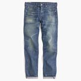 J.Crew Wallace & Barnes straight selvedge jean in Brighton wash
