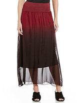 M Made in Italy M Made In Italy Ombre Soft Maxi Skirt
