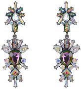 Kiwi Jewelry European and American fashion alloy inlaid artificial stone earrings retro earrings