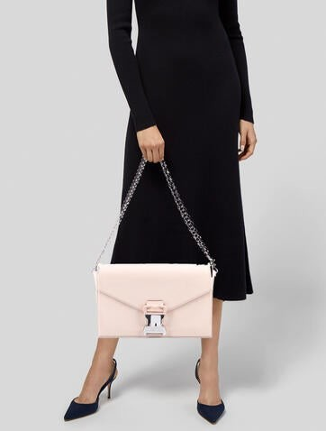 Thumbnail for your product : Christopher Kane Patent Leather Shoulder Bag Silver