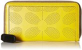 Orla Kiely Sixties Stem Punched Leather Big Zip Wallet