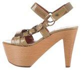 Lanvin Buckle-Accented Platform Sandals