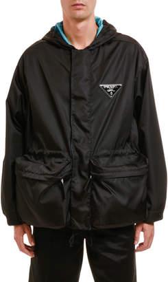 Prada Men's Nylon Zip-Front Jacket