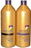 Pureology Nanoworks Shampoo & Conditioner Liter, 33.8 oz. each