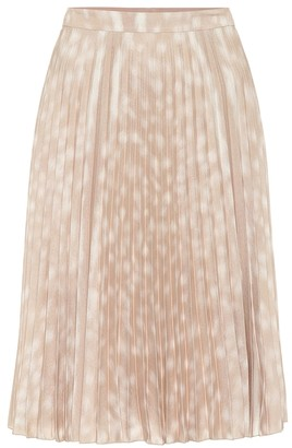 Burberry Printed pleated midi skirt