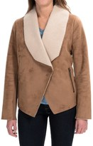 Bernardo Asymmetrical Faux-Shearling Coat (For Women)