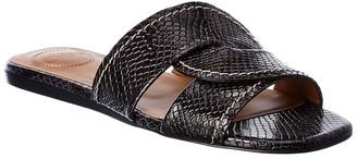 Chloé Snake-Embossed Leather Sandal