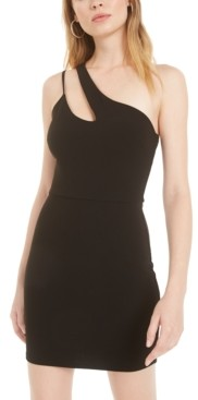 B. Darlin Juniors' One-Shoulder Cutout Sheath Dress, Created for Macy's