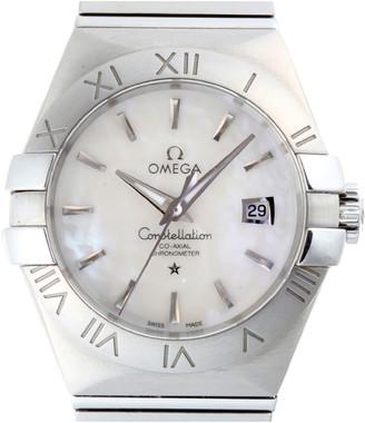 Omega MOP Stainless Steel Constellation123.10.31.20.05.001 Women's Wristwatch 31MM