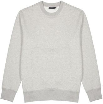J. Lindeberg Chip grey melange cotton-blend sweatshirt