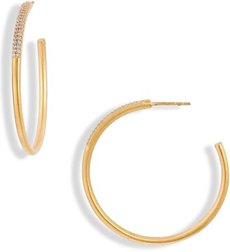 Dean Davidson Signature Pave Hoop Earrings