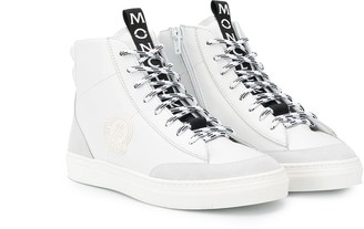 Moncler Enfant TEEN logo patch high-top sneakers