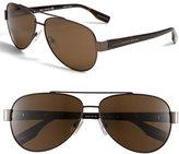 BOSS Men's Polarized Aviator Sunglasses - Silver